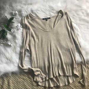 One clothing oatmeal blouse
